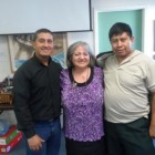 Father Juan Luis with Horizons Executive Director, Patricia Rebolledo-Kloques and José.