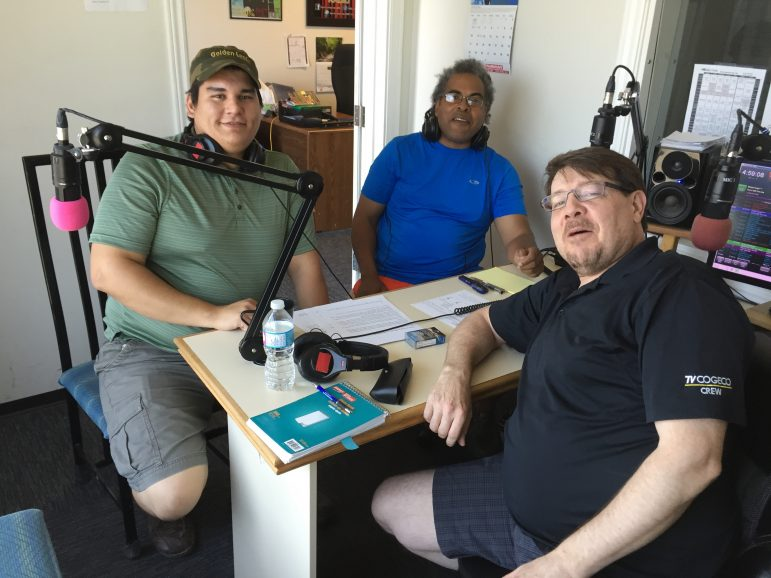 Corey Jacobs (left) and Colin Browne (right) join Dave Glover (front) on Consider This Live on July 13.