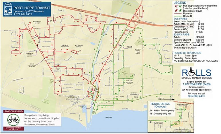 SM_Port Hope Transit Map.Stop Times - November 2014_Page_1