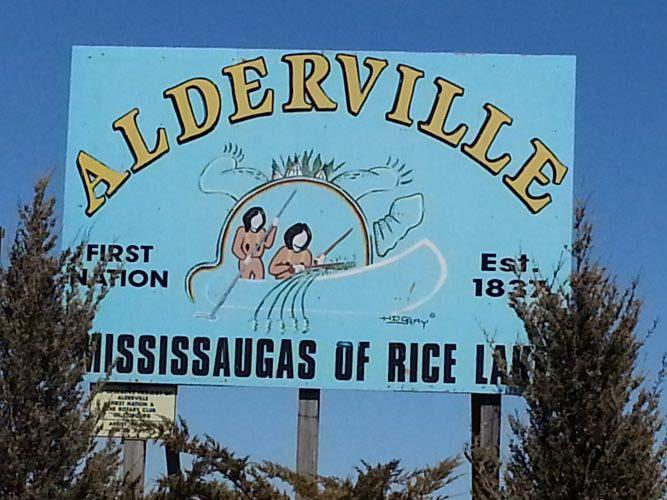 Alderville First Nation sign